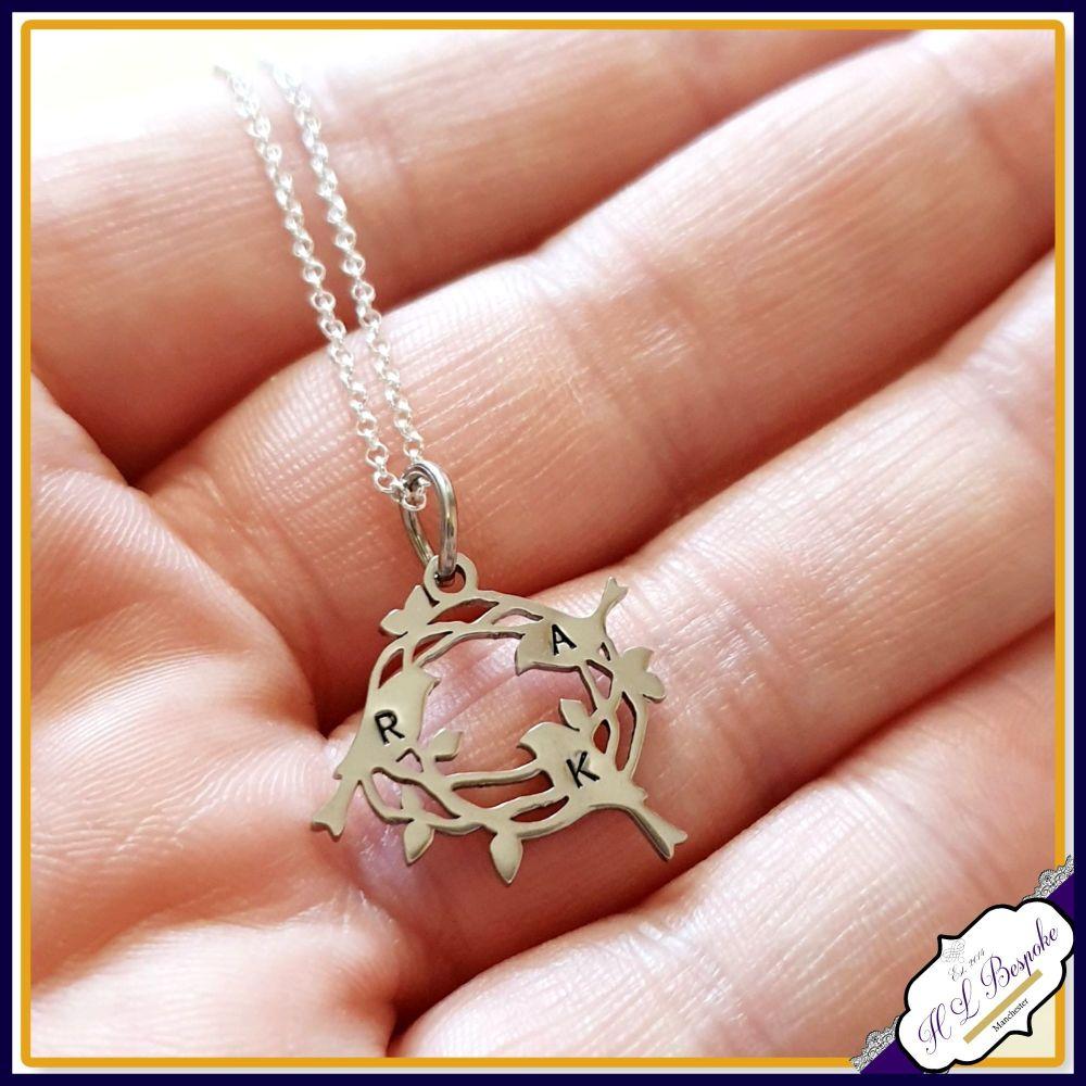 Personalised Family Pendant - Bird Nest Necklace - Mummy Gift - Mummy Neck