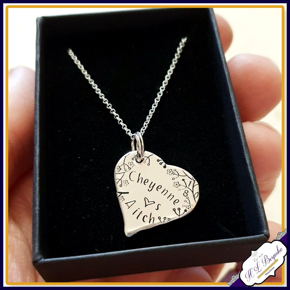 Personalised 18th Birthday Pendant Necklace Gift - Sterling Silver 18th Bir