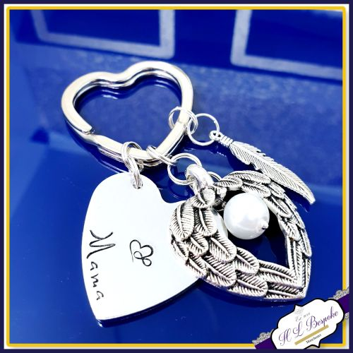 Personalised Memorial Keychain - Bereavement Keyring - Bereavement Gift - I