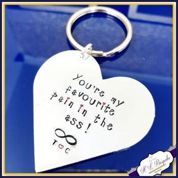 Pain in the Ass Keyring - Gift For Him - Valentine's Gift For Her - My Favourite Person Keychain - Valentine's Keyring - Funny Adult Keyring