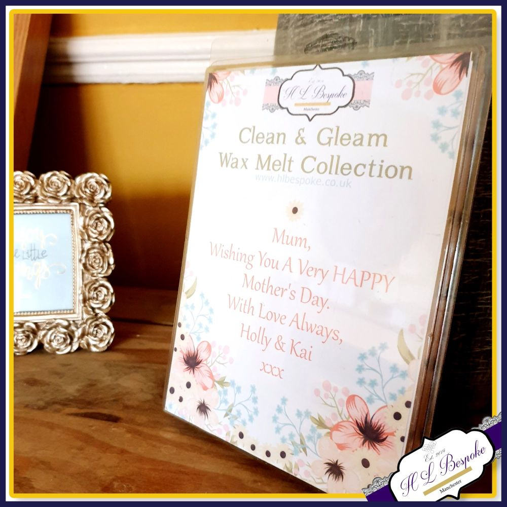 Personalised Mother's Day Soy Wax Melts - Mix Wax Melt Laundry Collection F