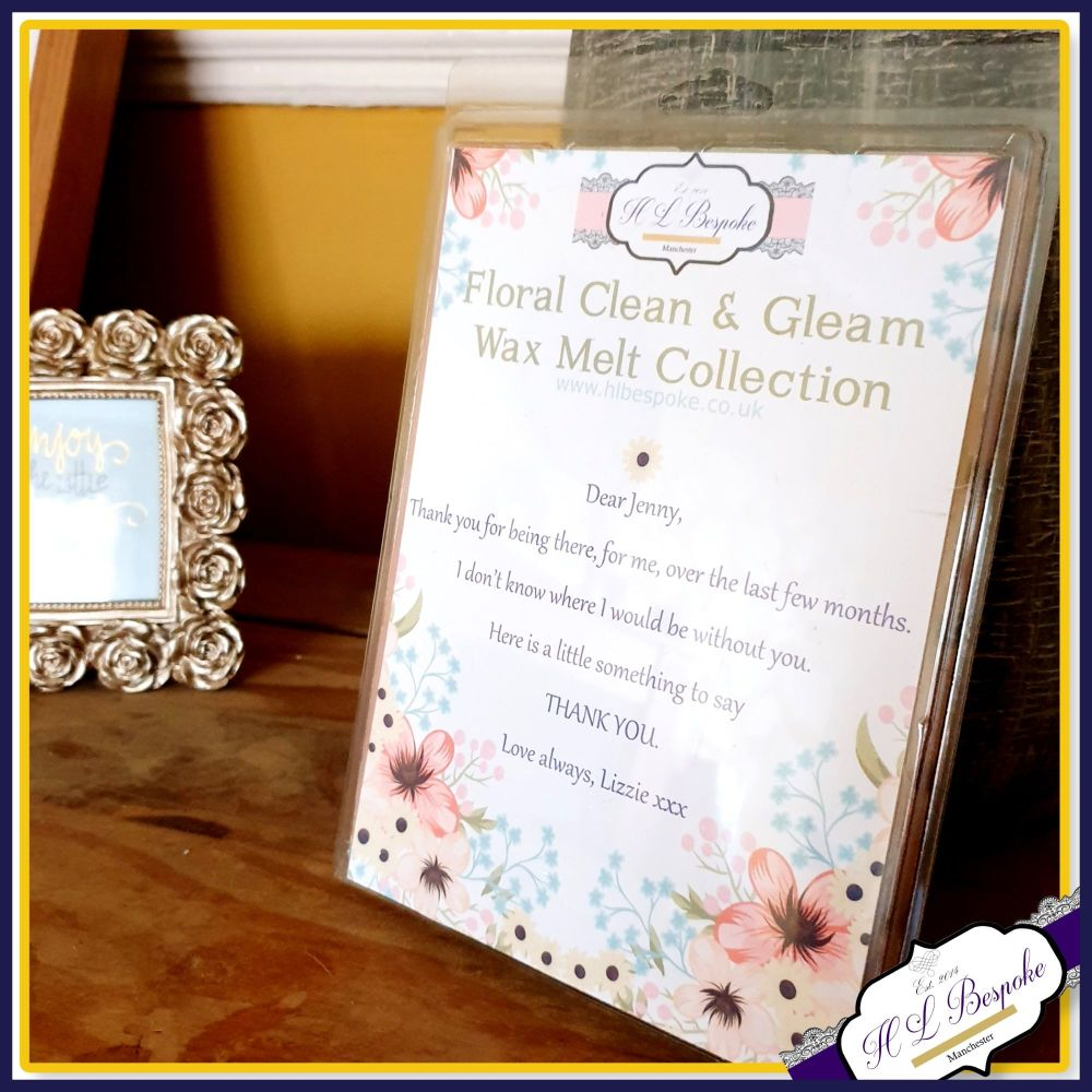 Personalised Thank You Friend Soy Wax Melts - Mix Wax Melt Laundry Collecti