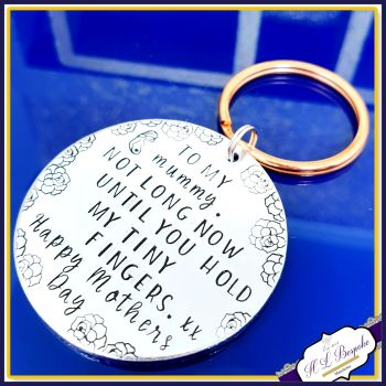 Pregnant Mothers Day Gift from the Bump - Mummy To Be Keyring - Meet You Mummy - Gift From Bump - Mothers Day Gift From Bump - Mummy Bump