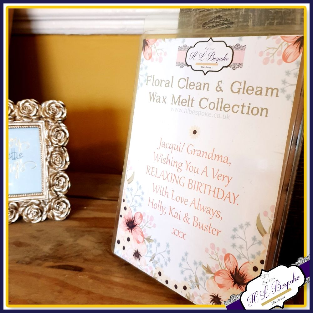 Large Personalised Clam Shell Wax Melt Collections