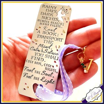 Personalised Bookmark - Mental Health Poem - Custom Bookmark - Bookworm Gift - Mental Health Quote - Mental Health Gift - Book Lover Gift