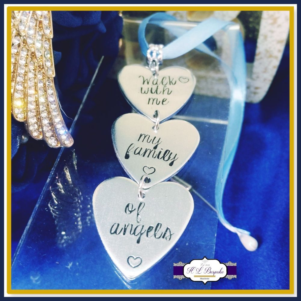Memorial Bridal Bouquet Charm - Walk With Me My Family Of Angels - Somethin