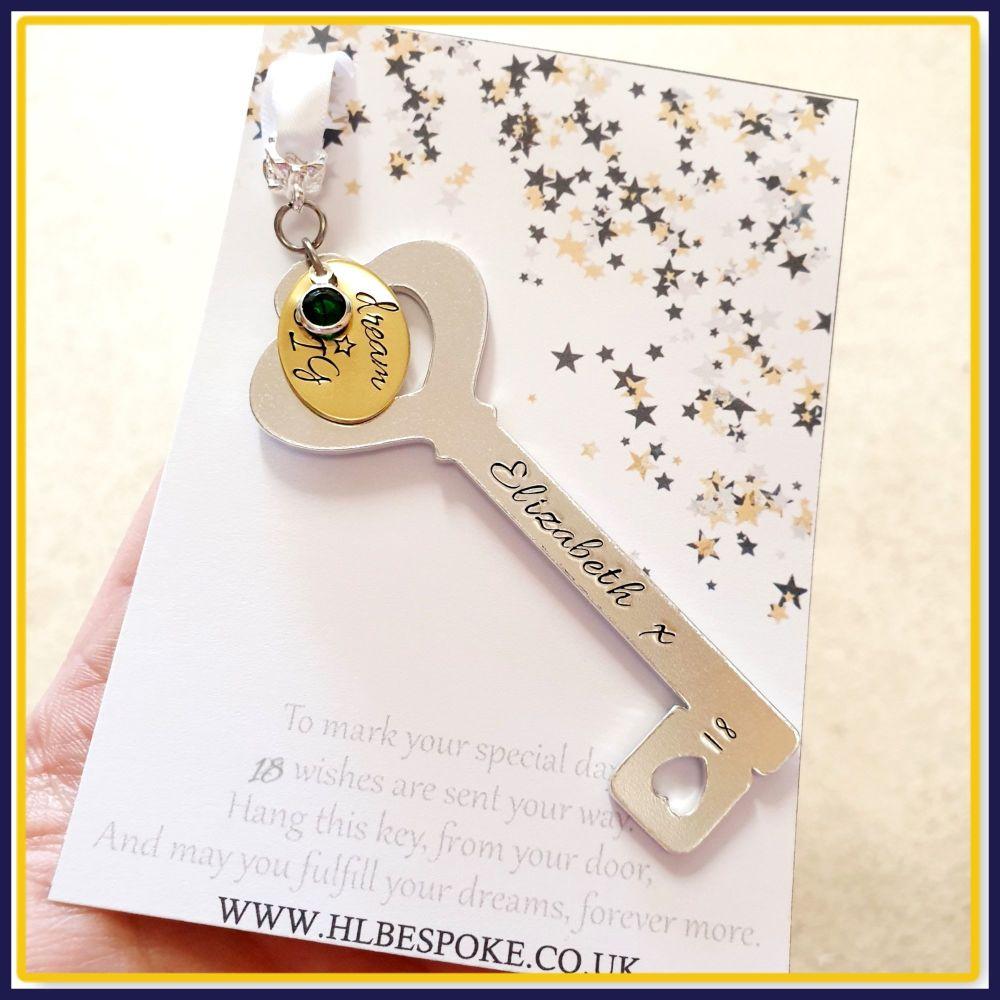 18th Birthday Key Gift For Her - 21st Birthday Key To The Door Gift - Key T