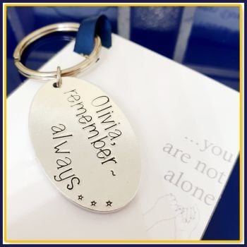 Personalised You're Not Alone Gift - Gift For Lonliness - Always With You Social Distancing Gift - Motivational Mental Health Keyring Gift