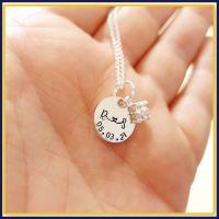 Personalised Cubic Zirconia Pendant Necklace For Wedding Day - Bride Wedding Jewellery Set - Sparkly Wedding Jewellery Gift For My Bride