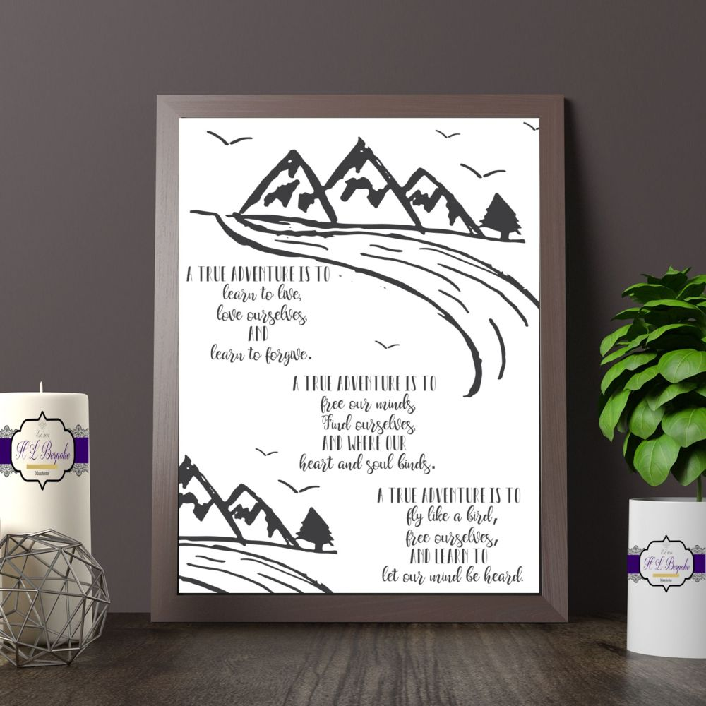 Adventure Print - Adventure Poem - A True Adventure  Art - A True Adventure