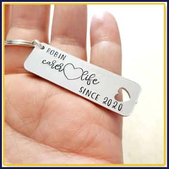 Personalised Fun Gift For Carer - Graduate Carer Since Gift - Gift For Newly Qualified Carer Keyring - Carer Life Gift - New Carer Gift