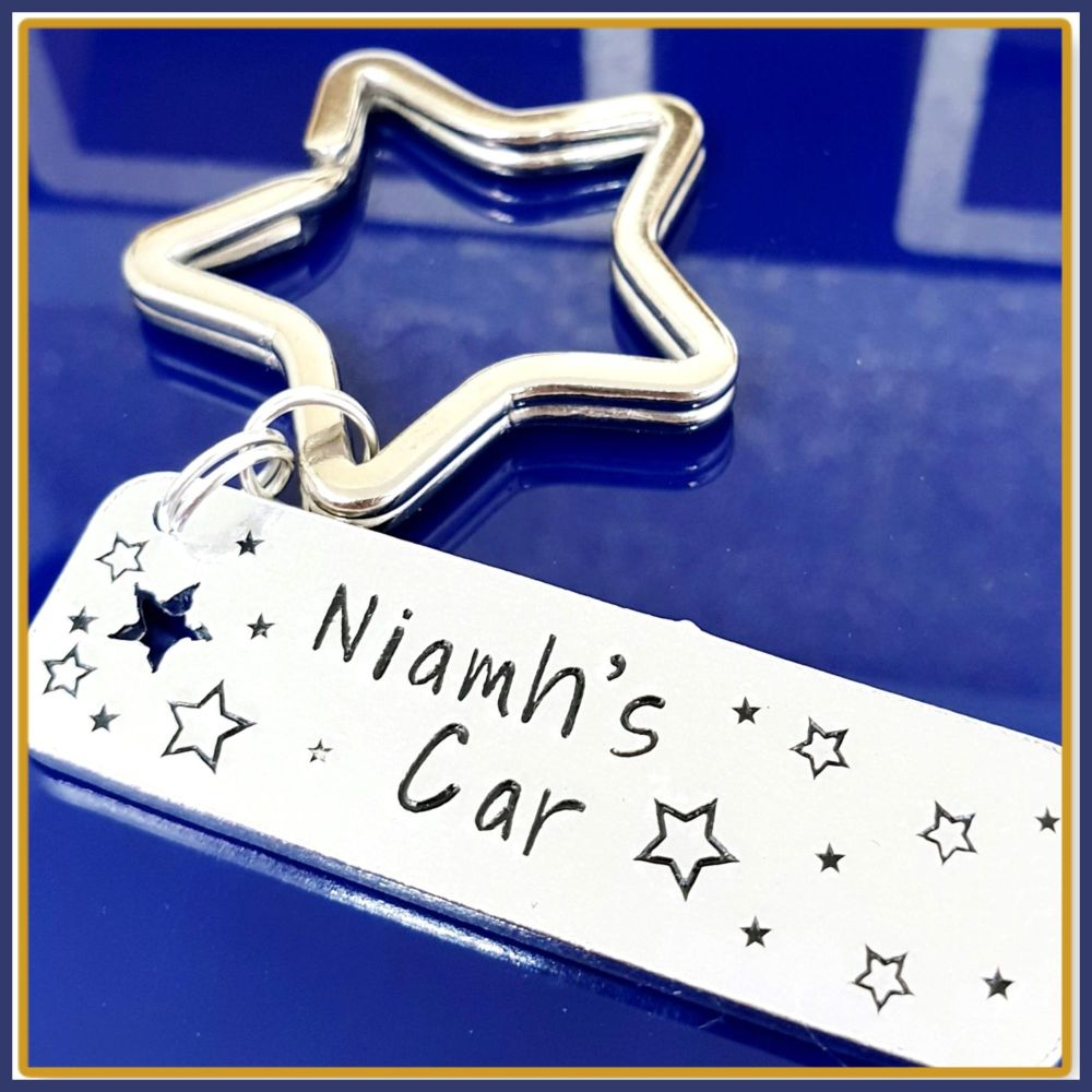 Personalised New Driver Keyring - New Driver Gift - Just Passed Keyring - C