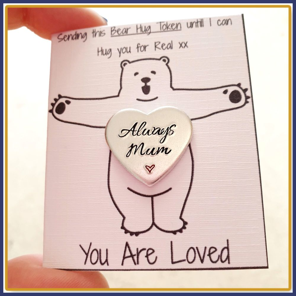 Personalised Bear Hug Token Gift - Social Distancing Gift - You Are Loved G