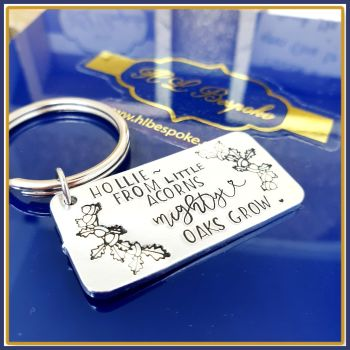 Personalised From Little Acorns Might Oaks Grow Keyring Gift - Keep Going Gift - Uplifting Acornd Gift - Little Acorns Stay Strong Gift