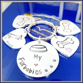 Personalised Furbabies Keyring - This Human Belongs To Keyring - My Furbaby Keyring - Dog Mum Gift - Dog Lover Gift - Dog Dad Keyring