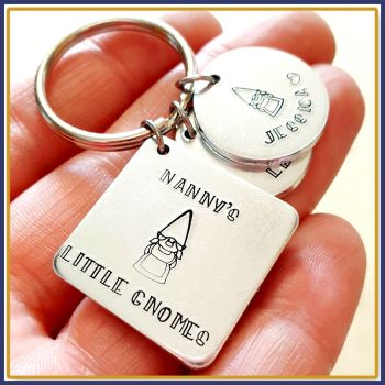 This Nanny Belongs To Gnome Keyring - Gnome Gift For Nanny - Grandad Gnome Keyring - Nanny's Little Gnomes Gift - Gnome Family Gift For Nan