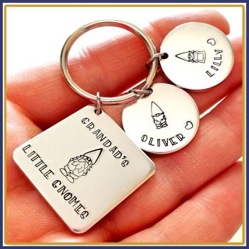This Grandad Belongs To Gnome Keyring - Gnome Gift For Nanna - Grandad Gnome Keyring - Grandad's Little Gnomes Gift - Gnome Family Gift Nan