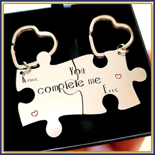 You Complete Me Keyrings - Puzzle Keyrings- Valentine's Gift - Couple's Key