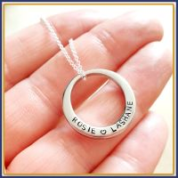 Personalised Washer Pendant - Washer Necklace - Name Necklace - Name Pendant - Stainless Steel - Personalised Round Necklace - Round Pendant