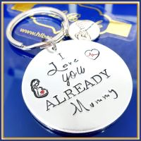 Pregnant Mothers Day Gift - Mothers Day Keyring - I Love You Already - From The Bump - Mothers Day Gift From Bump - Mummy Gift From Baby