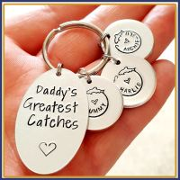 Personalised Daddy's Best Catch Keyring - Fishing Keyring - Father's Day Keyring - Fishing Daddy Keyring - Grandad Keyring - Fisherman - Dad