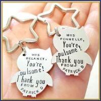 Personalised Owl Teacher Keyring - Teacher Gift - Owl Keyring - End Of Year Gift - Teaching Assistant Keyring - Owlsome - Assistant Gift