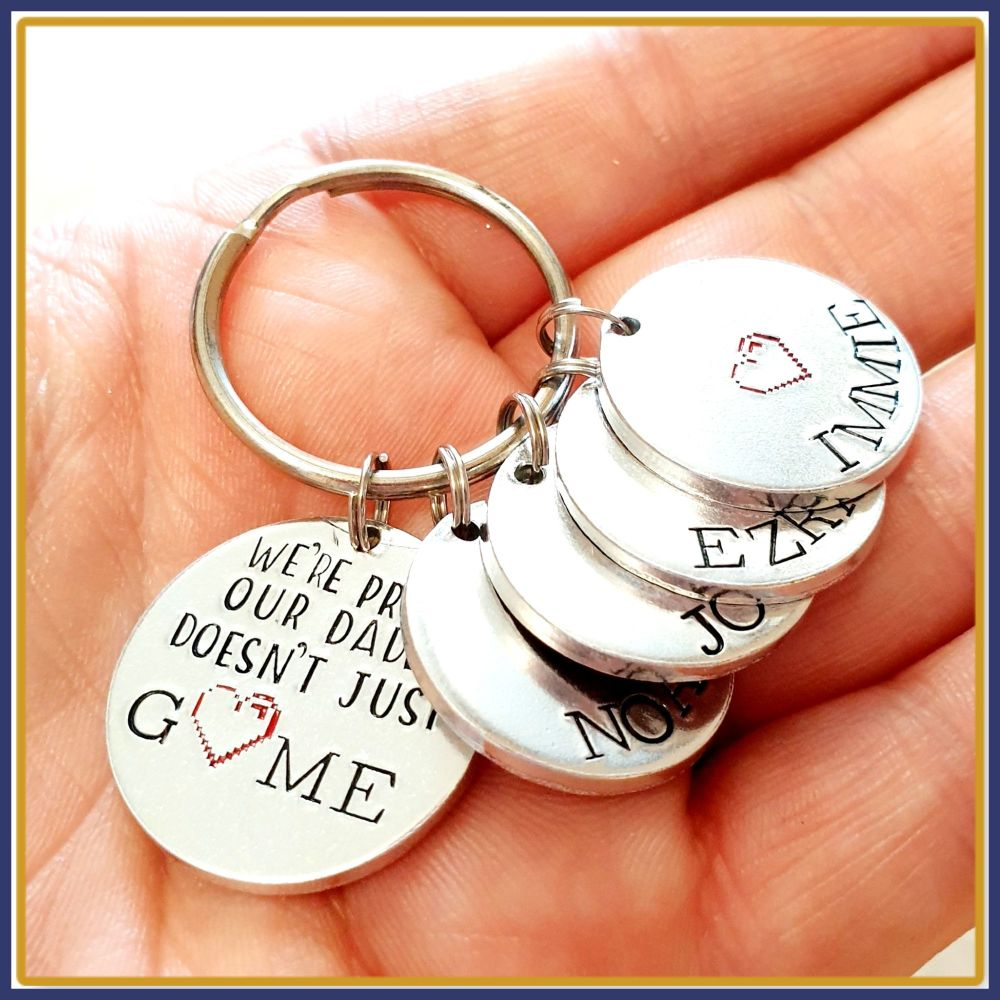 Personalised Funny Gamer Daddy Keyring - Gamer Father's Day Gift - Daddy Ke