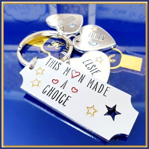 Personalised Stepdad Keyring - Step Father Keychain - Stepdad Gift - Step F
