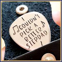 Stepdad Gift - Stepdad Guitar Pick - I Couldn't Pick A Better Stepdad - Stepfather's Day Gift - Stepdad Gift - Stepfather Guitar Pick