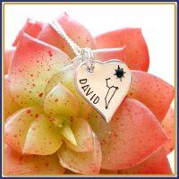 Personalised Constellation Heart Pendant Necklace - Constellation Birthstone Jewellery - Heart Shaped Birthstone Constellation Pendant