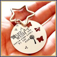 Make A Wish Gift - Throw Your Worries To The Wind Keyring - Worry Gift - Worries Be Gone Keychain - Motivating Gift - Uplifting Gift - Wish