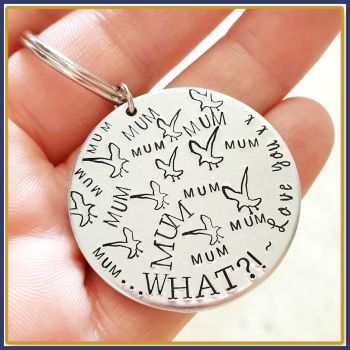 Funny Mum Keyring Mum - Mythering Mum Gift - Mum Mum Mum Gift - Dad Seagul Gift - Mythered Dad Father's Day Gift - Mother's Day Keychain
