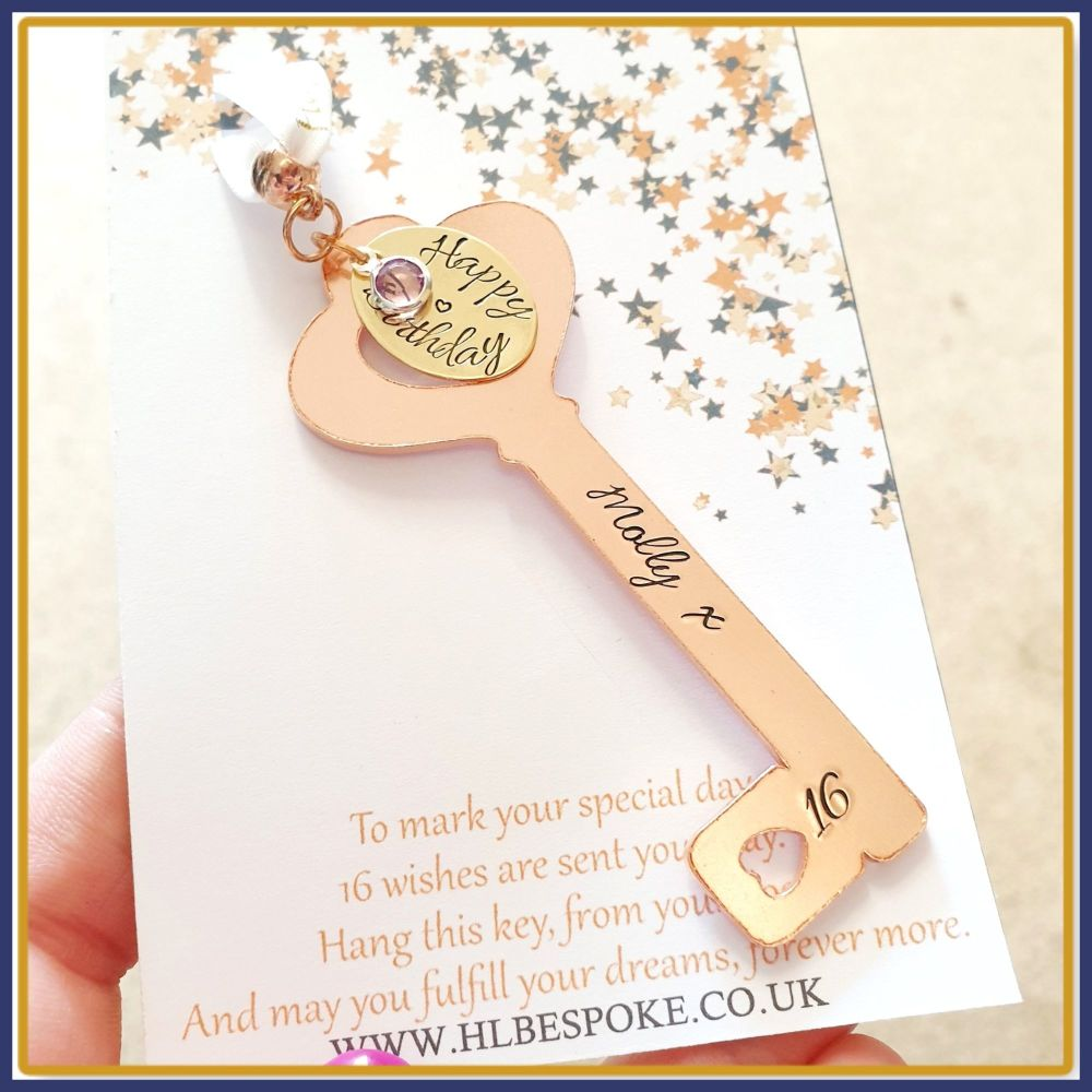 16th Birthday Key Gift For Her - 16th Birthday Key To The Door Gift - Key T