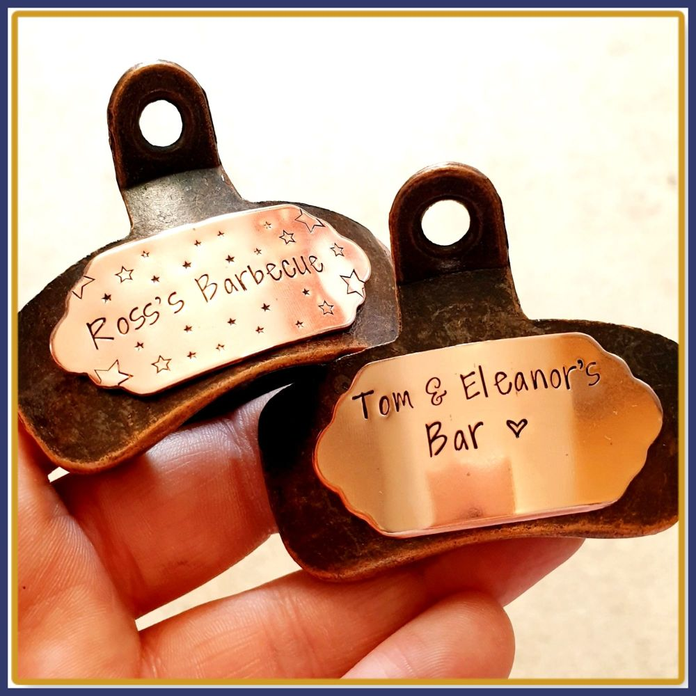 Daddy Gift - Personalised Bottle Opener - Custom Wall Mounted Bottle Opener