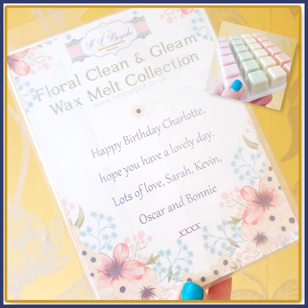 Personalised Birthday Soy Wax Melts - Mix Wax Melt Laundry Collection For B