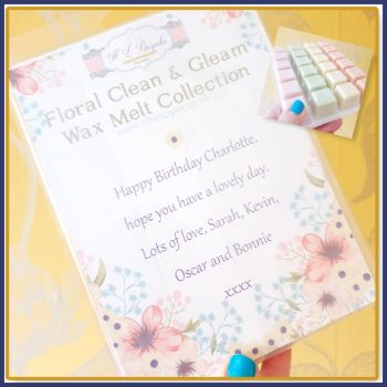 Personalised Birthday Soy Wax Melts - Mix Wax Melt Laundry Collection For Birthday - Floral Wax Tart Flowery - Laundry Scented Melt Tarts
