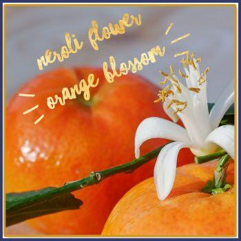 Neroli Flower Orange Blossom Soy Wax Melts - Highly Scented Rich Orange Perfume Inspired Wax Tarts - Scented Vegan Friendly Mineral Wax Mel