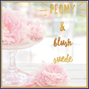 Peony & Blush Suede Soy Wax Melts - Highly Scented Floral Peony Wax Tarts - Must Try Highly Scented Vegan Friendly Mineral Wax Melts