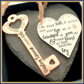 30th Birthday Gift For Her - Female 30th Birthday Gift - 21st Birthday Key Plaque - Daughter 30th Key - 21st Key - Friendship Birthday Gift