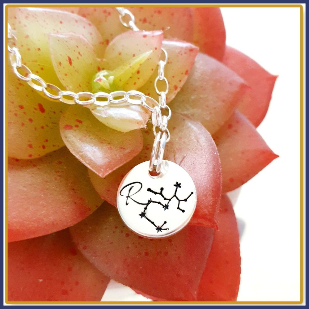 Personalised Constellation Initial Charm Bracelet  - Star Sign Jewellery Br