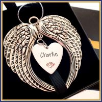 Personalised Pet Christmas Decoration - Dog Memorial Gift - Christmas Angel Wings - In Memory Of Pets Gift