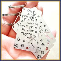 Personalised Football Daddy Keyring - Father's Day Keyring - Dad Gift From Footballing Son - Dad Son Gift - Footballer Gift - Favourite Footballer