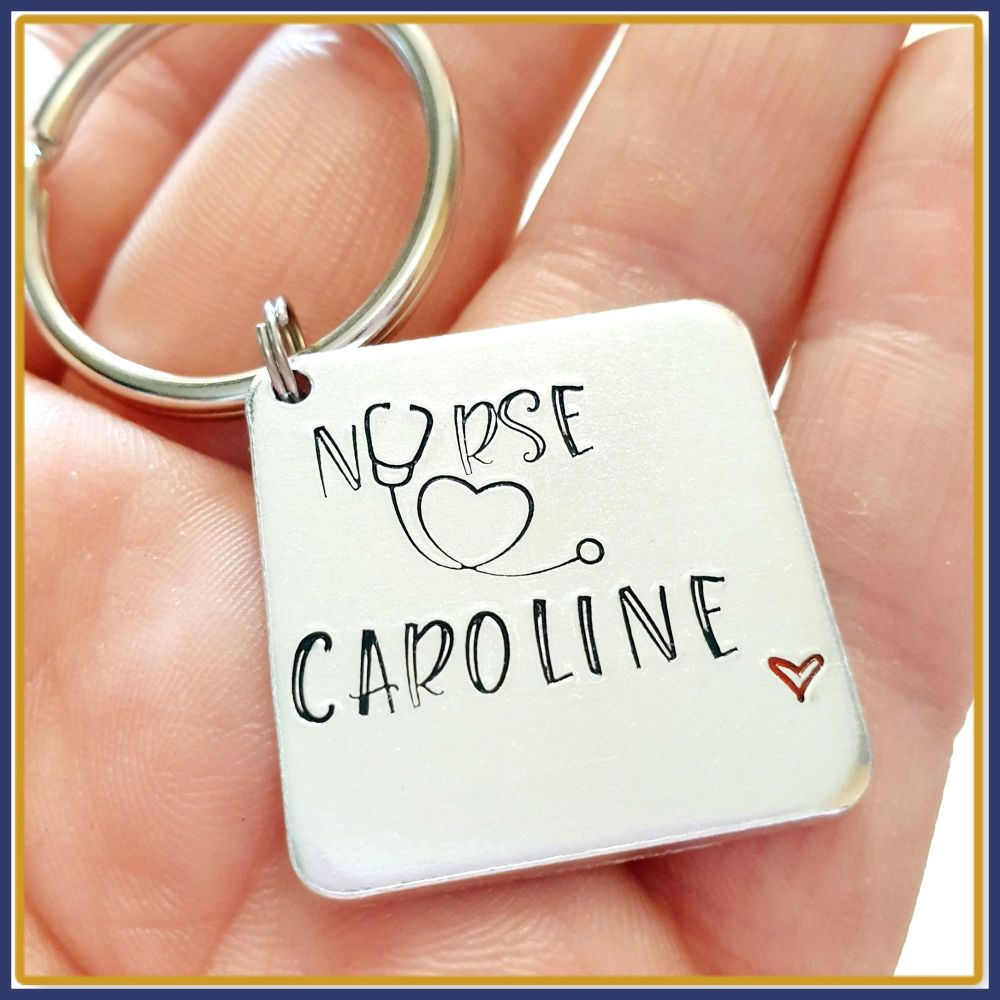 Personalised Gift For Nurse - Nurse Keyring For Graduate - Gift For Newly Q