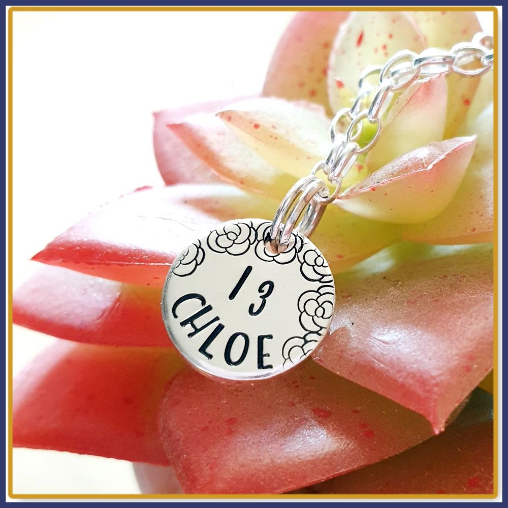 Personalised Special Age 13th Birthday Charm Bracelet  - Sterling Silver 13