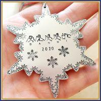 Personalised BSL Christmas Gift - Sign Language Christmas Decoration - Unique  Christmas Ornament - British Sign Language - Snowflake