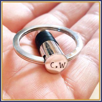 Cremation Urn Keyring - Cylinder Cremation Urn Keychain - In Memory Of Keyring - Cremation Keyring - Personalised Urn Keyring - Keychain