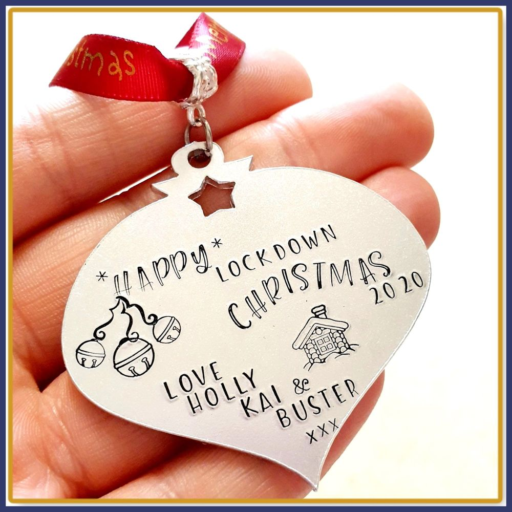 Personalised Happy Lockdown Christmas Decoration - Lockdown Christmas Ornam