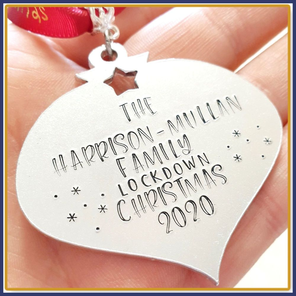 Personalised Family Lockdown Christmas Decoration - Christmas Lockdown Orna