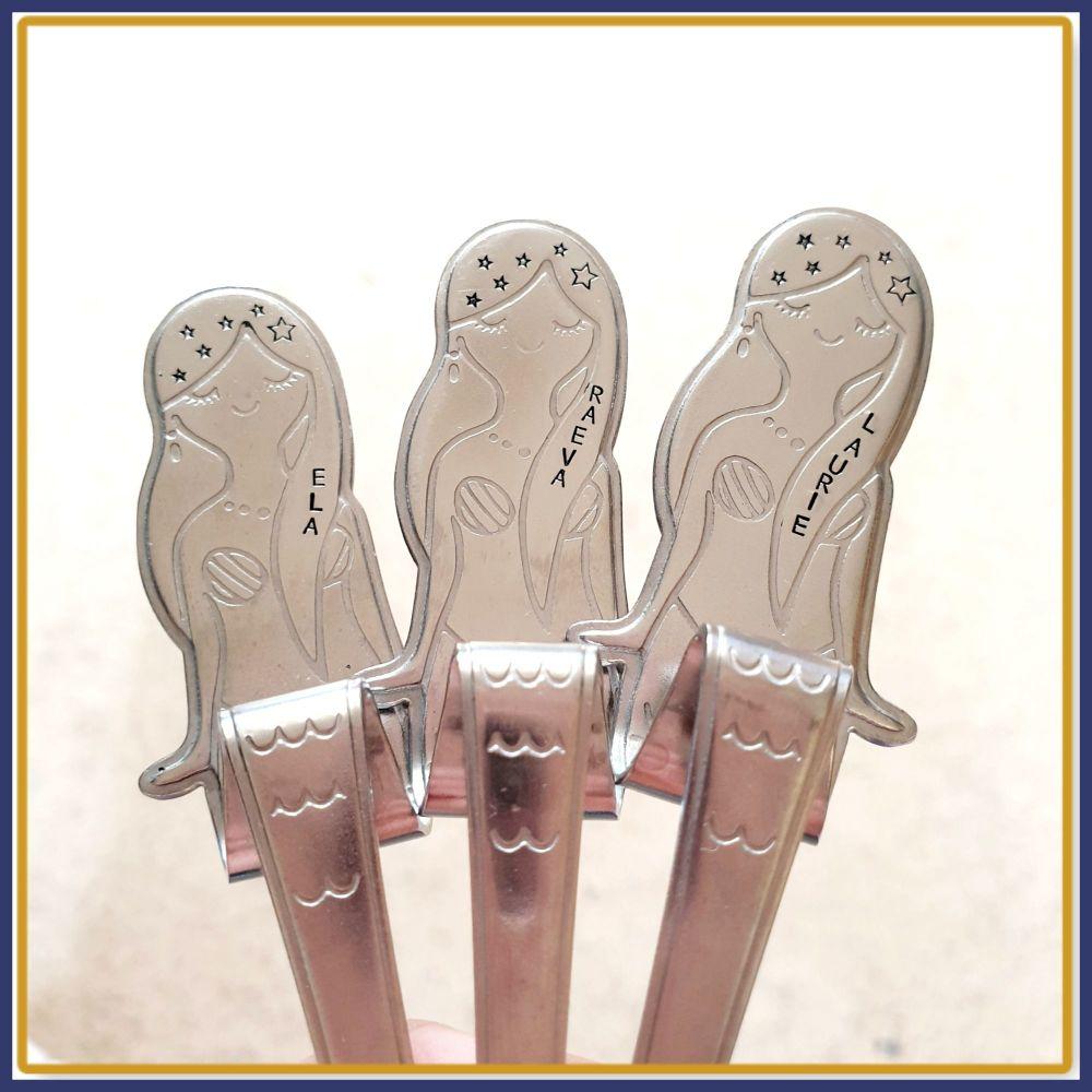 Personalised Mermaid Spoon - Custom Mermaid Spoon - Mermaid Cutlery - Spoon