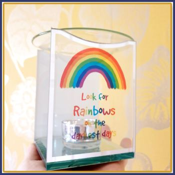 Colourful Rainbow Wax Melt Burner With Wax Melt Samples - Look For Rainbows On The Darkest Days Gift - Rainbow Gift Set - Wax Melt Lover Gift